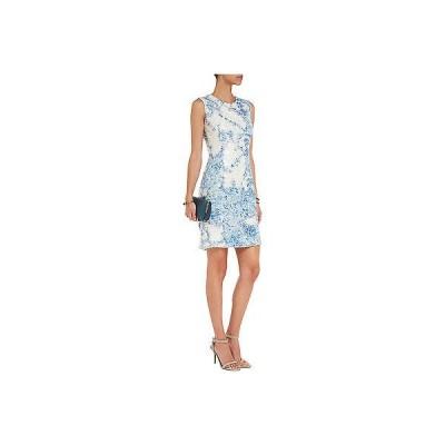ワンピース アーデム  ERDEM ELGA Blue White Milandes Sequin Lace  DRESS US 6 8  UK 10 12