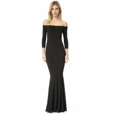 ノーマ カマリ Norma Kamali レディース パーティードレス ワンピース・ドレス Kamali Kulture Off Shoulder Fishtail Gown Black
