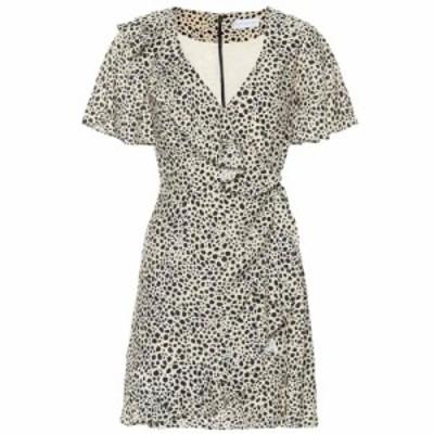 レベッカ ヴァランス Rebecca Vallance レディース ワンピース ラップドレス ワンピース・ドレス Anya leopard wrap dress Leopard Print
