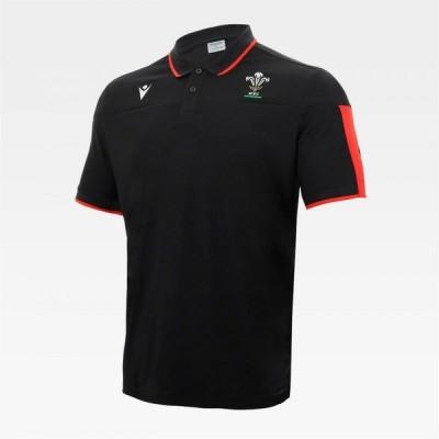 マクロン Macron メンズ ポロシャツ トップス Wales Polo Shirt Black/Red