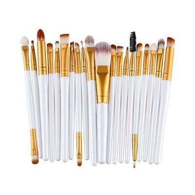 化粧ブラシセット KOLIGHT Pack of 20pcs Cosmetic Eye Shadow Sponge Eyeliner Eyebrow Lip Nose Foundation Powder Makeup Brushes Sets (G