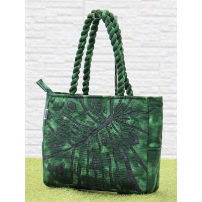 ハワイアンキルト スタンダードミニ バッグ Hawaiian Quilt Standard Mini Bag モンステラ ブラックxグリーン 送料無料