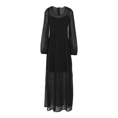 RUE•8ISQUIT ロングワンピース&ドレス ブラック 42 ポリエステル 100% ロングワンピース&ドレス