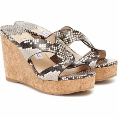 ジミー チュウ Jimmy Choo レディース サンダル・ミュール シューズ・靴 atia 100 leather sandals Natural