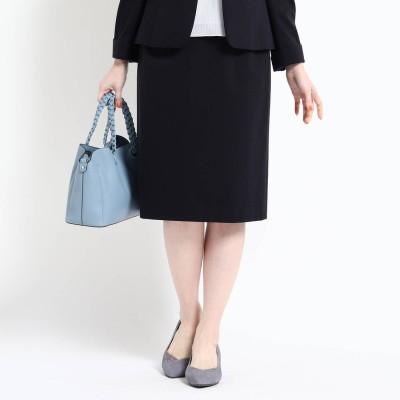 リフレクト Reflect 【洗える/匠シリーズ】ソフトタイトスカート (ネイビー)