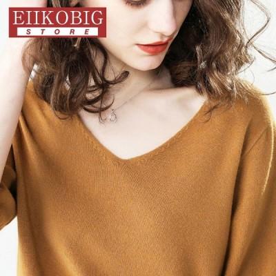 Tシャツ レディース 春 夏 半袖 ブラウス  Vネック  ゆったり 合わせやすい  おしゃれ  トレンド  シャツ トップス 丸首 女性 20代 30代