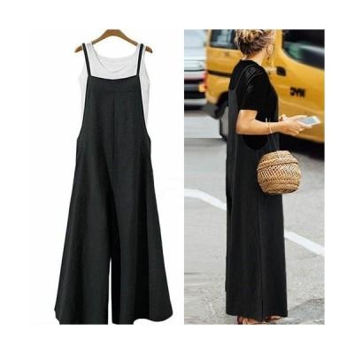 サロペット レディース ファッション 黒 40代 30代 コーデ 無地 ワイド ゆったり 大きいサイズ シンプル ブラック ネイビー 大人カジュアル