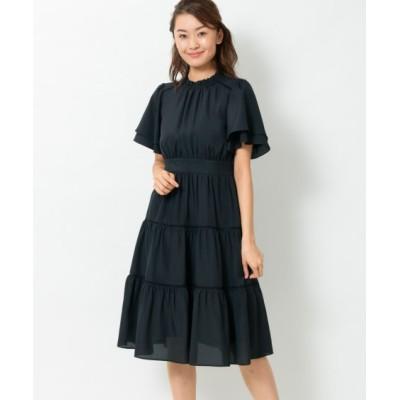 【大きいサイズ】 ティアード使いワンピース(プライベートレーベル) ワンピース, plus size dress