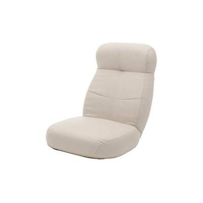 セルタン 日本製 ポケットコイル ワイド あぐら 座椅子 ダリアンベージュ ヘッドリクライニング A974p-642BE (ベージュ 大)