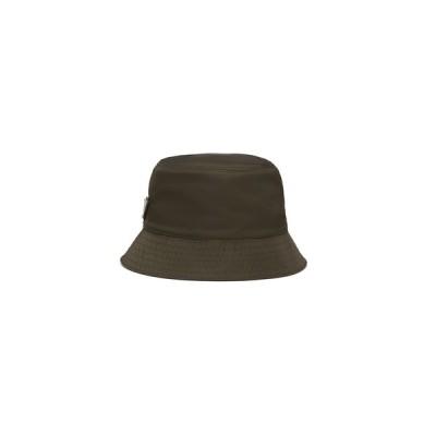プラダ PRADA 帽子 ハット カーキ ナイロン