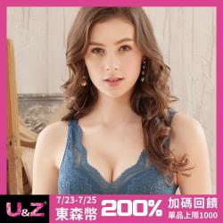 【U&Z】開運繆思 無鋼圈B-E罩內衣(開創藍)-台灣奧黛莉集團