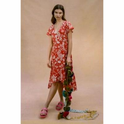 アーバンアウトフィッターズ Urban Outfitters レディース ワンピース ラップドレス ミドル丈 ワンピース・ドレス UO Daphne Wrap Midi D