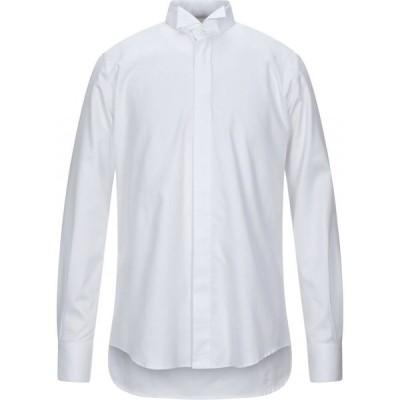 トラサルディ TRUSSARDI メンズ シャツ トップス solid color shirt White