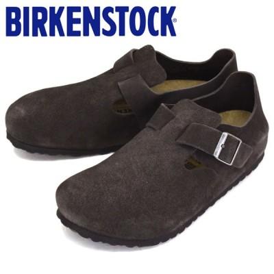 BIRKENSTOCK (ビルケンシュトック) 1014966 LONDON ロンドン スウェードレザー レギュラー幅 GUNMETAL BI143