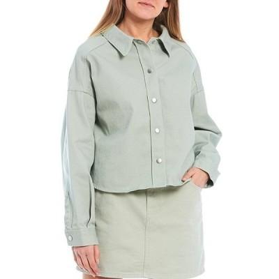 ジービー レディース シャツ トップス Button Front Long Sleeve Denim Shirt