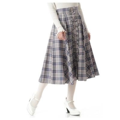 Secret Honey(シークレットハニー)フロントフリルミディ丈マチ付きスカート