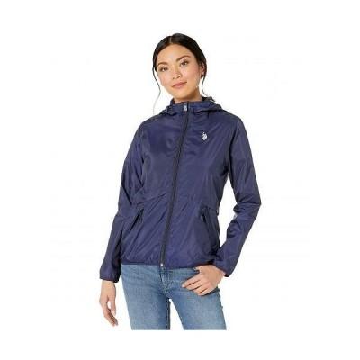 U.S. POLO ASSN. USポロ レディース 女性用 ファッション アウター ジャケット コート カジュアルジャケット Windbreaker Jacket - Evening Blue