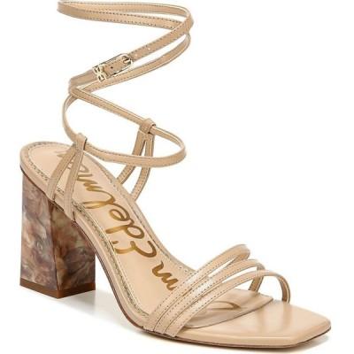 サム エデルマン Sam Edelman レディース サンダル・ミュール シューズ・靴 Doriss Ankle-Wrap Strappy Block Heel Sandals Nude