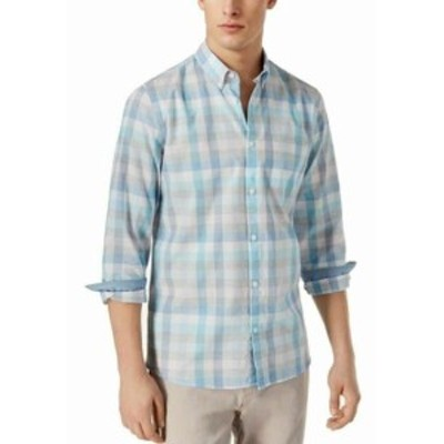 Calvin Klein カルバンクライン ファッション ドレス Calvin Klein Mens Dress Shirt Blue Size XS Plaid Print Button Down