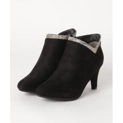 ZealMarket/SFW / 美シルエット  8cmチャンキーヒールショートブーティ WOMEN シューズ > ブーツ