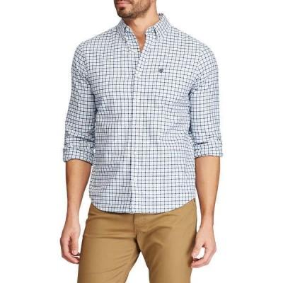 チャップス シャツ トップス メンズ Big & Tall Long Sleeve Stretch Oxford Button-Down Shirt  Blue Multi
