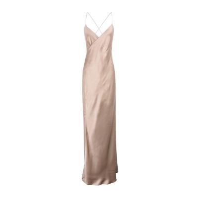 MICHELLE MASON ロングワンピース&ドレス ベージュ 6 シルク 100% ロングワンピース&ドレス