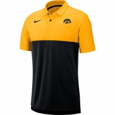 ナイキ Nike メンズ ポロシャツ ドライフィット トップス Iowa Hawkeyes Gold/Black Dri-FIT Breathe Football Sideline Polo
