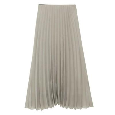 ミラオーウェン Mila Owen ウエストコード太幅プリーツスカート (MOC)