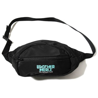 Brother Merle (ブラザーマール) ウェストバッグ ボディバッグ Men's Fanny Pack Norm in Hawaii Black  スケボー SKATE SK8 スケートボード HARD CORE PUNK