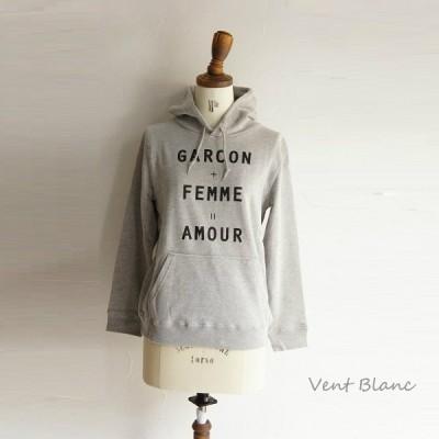 コットン 綿 AMOUR PT スエット ジャージー フード パーカー Vent Blanc ヴァンブラン サンプル/SAMPLE VBC1170 服 大人 ナチュラル ゆったり きれいめ シンプル