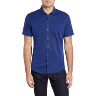 ザッカリープレル メンズ シャツ トップス Caruth Regular Fit Short Sleeve Shirt ROYAL
