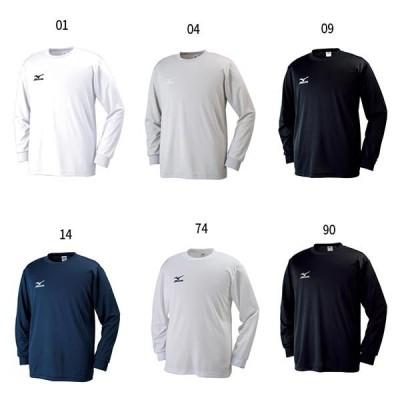 ミズノ メンズ Tシャツ 長袖 丸首 長袖Tシャツ トップス 32JA6130