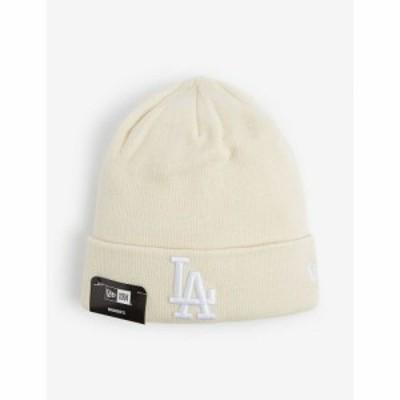 ニューエラ NEW ERA レディース ニット ビーニー 帽子 LA folded knitted beanie hat CREAM