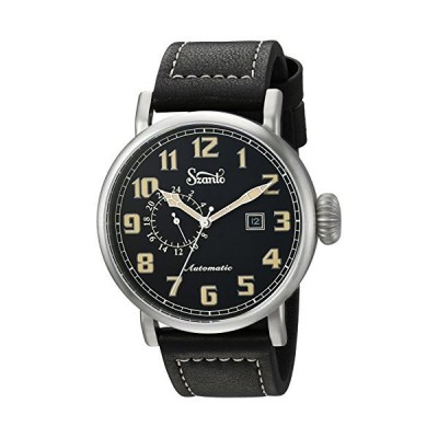 Szanto Men's SZ6105 SZANTO Automatic Aviator Analog Display Japanese Automatic Black Watch並行輸入品