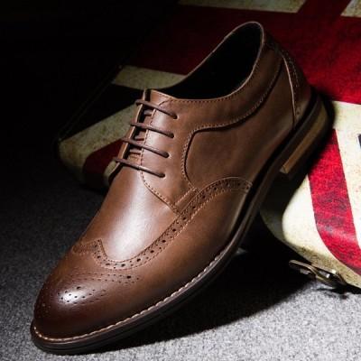 通気性 PU フォーマル ビジネスシューズ 紳士靴 革靴 カジュアル 通勤 メンズ シューズ 冠婚葬祭 定番 履き心地良い
