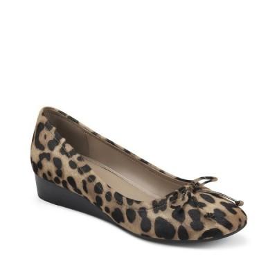 エアロソールズ サンダル シューズ レディース Women's Callie Low Wedge Dress Sandal Leopard