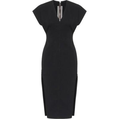 リック オウエンス Rick Owens レディース パーティードレス ミドル丈 ワンピース・ドレス Cotton-blend midi dress Black