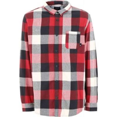 クイックシルバー QUIKSILVER メンズ シャツ フランネルシャツ トップス qs camicia motherfly flannel checked shirt Red