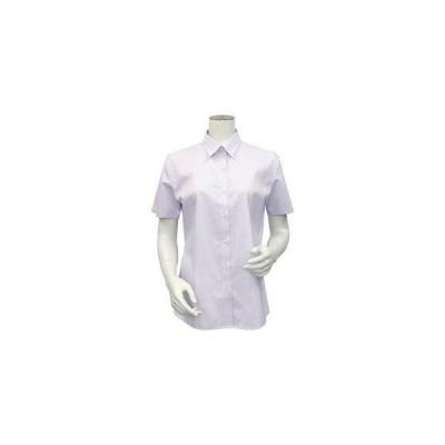トーキョーシャツ TOKYO SHIRTS 形態安定ノーアイロン レディース半袖シャツ レギュラー衿 (COOLMAX(R) ストレッチ) (ライトパ