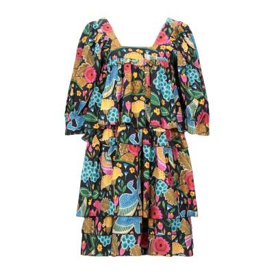 LA DOUBLE J. ミニワンピース&ドレス ダークブルー S コットン 100% ミニワンピース&ドレス