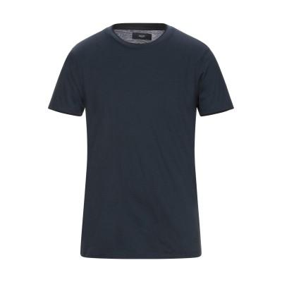 LIU •JO MAN T シャツ ダークブルー L コットン 100% T シャツ