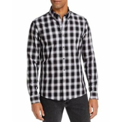 マイケルコース メンズ シャツ トップス Ombr Check Slim Fit Button Down Shirt Black