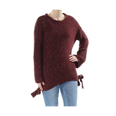 Max Studio London Side-Tie Melange Sweater (Wine, XS)並行輸入品 送料無料