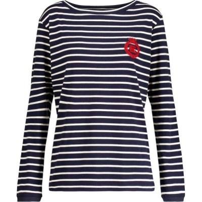 エトロ Etro レディース 長袖Tシャツ トップス striped cotton jersey t-shirt Blu