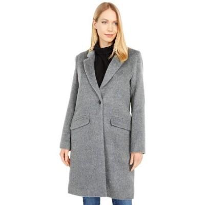コールハーン レディース コート アウター Single Breasted Wool Blend Coat
