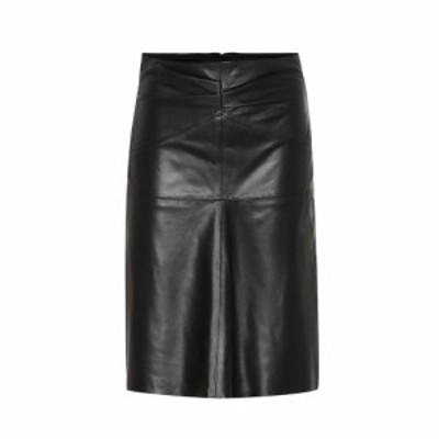 イザベル マラン Isabel Marant レディース ひざ丈スカート スカート Gladys leather midi skirt Black