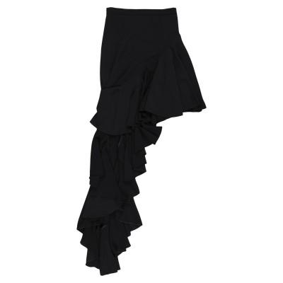 LEITMOTIV ひざ丈スカート ブラック 42 ポリエステル 100% ひざ丈スカート