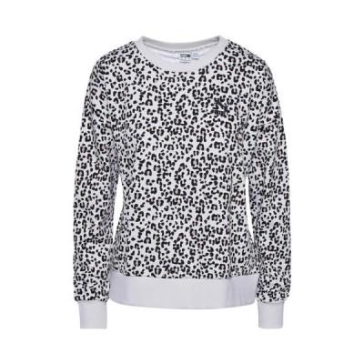 (取寄)プーマ レディース プーマ クラシック AOP クルー スウェットシャツ Puma Women's PUMA Classics AOP Crew Sweatshirt Vaporous Grey Animal Ao 送料無料
