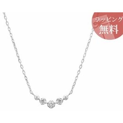 ヨンドシー ネックレス ダイヤモンド ライン K10ホワイトゴールド 4℃