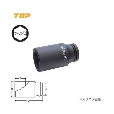 """トップ工業 TOP 3/4""""インパクト用ディープソケット(差込角19.0mm) PT-624L"""